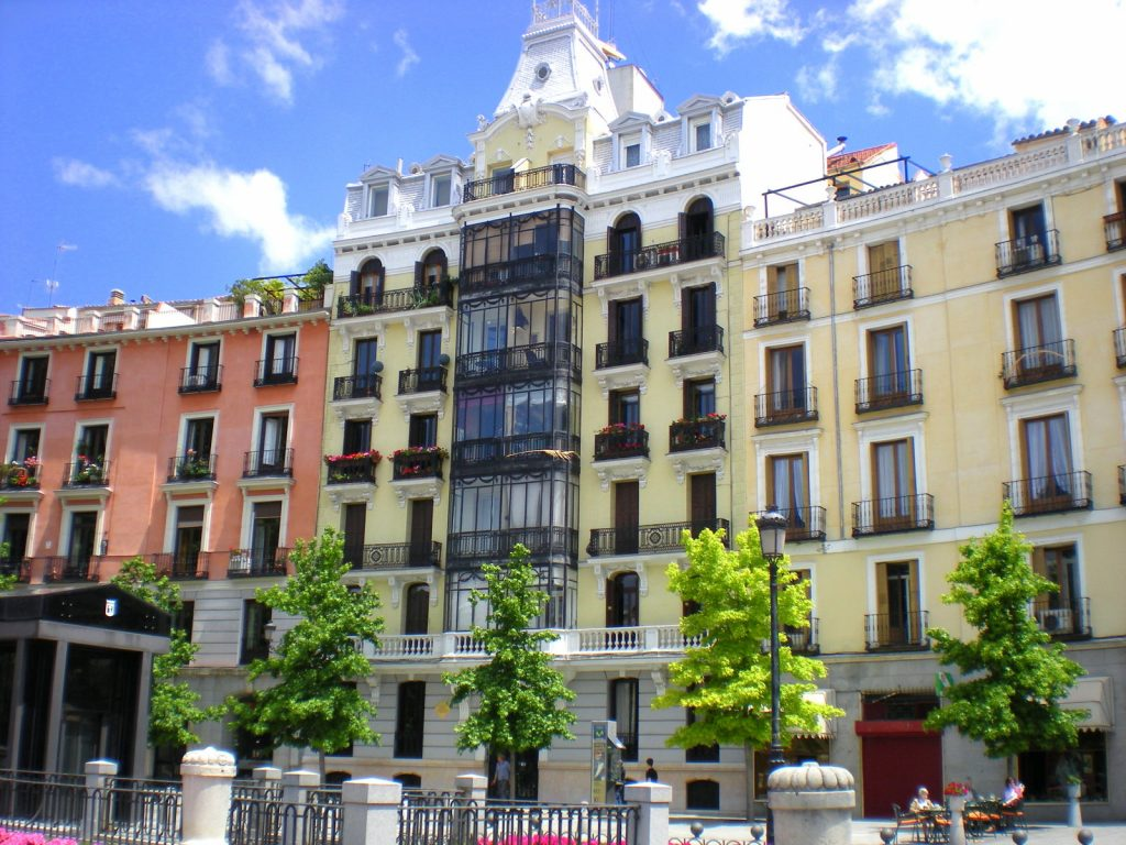 La jolie architecture madrilène