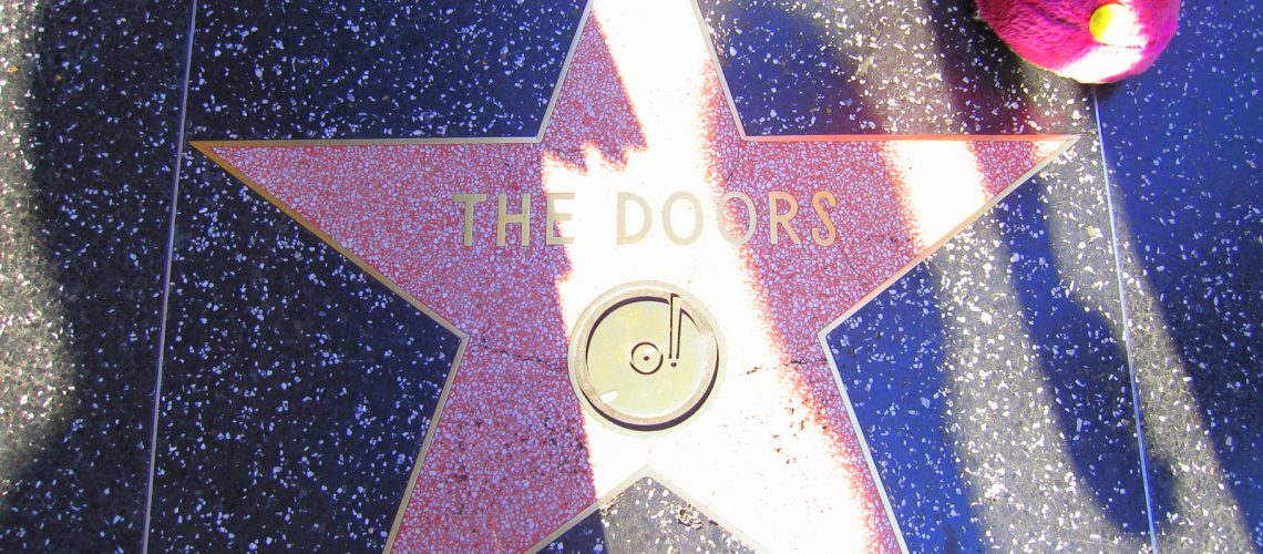 L'étoile de The Doors sur Hollywood boulevard à Los Angeles