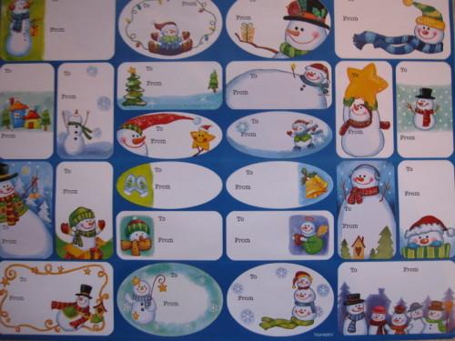 Etiquettes Noel