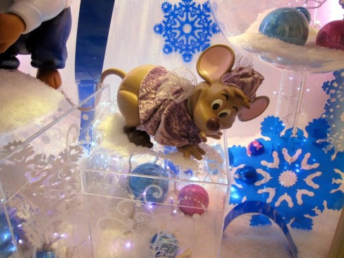 Vitrine de Noel souris Cendrillon Disneyland