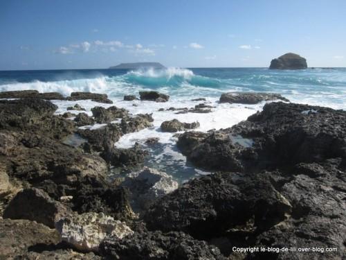 Guadeloupe Pointe des Chateaux vagues