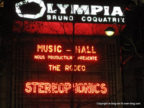 Stereophonics affiche Olympia 2010
