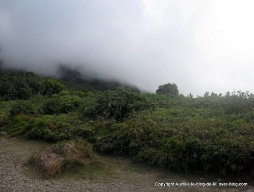 Guadeloupe Soufriere brouillard