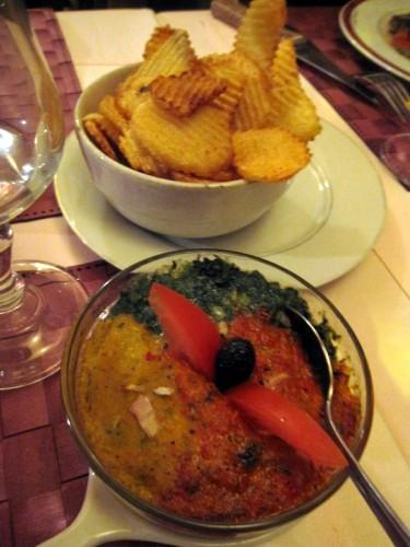 Legumes et frites restau chez bibi