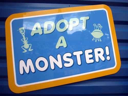 Disneyland adopt a monster