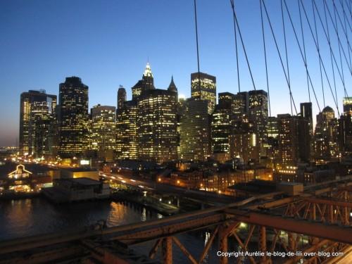 New york traverser le pont de brooklyn au coucher du - Coucher du soleil new york ...
