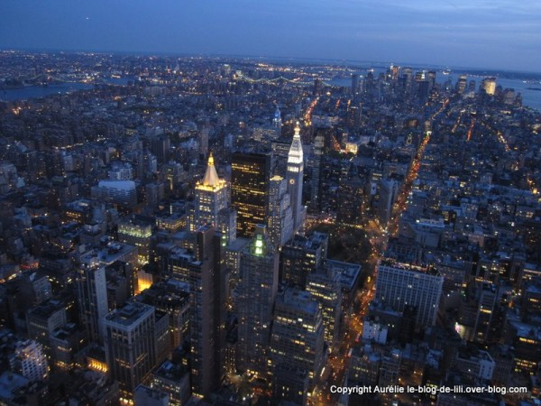 NY Empire state building 20 manhattan de nuit