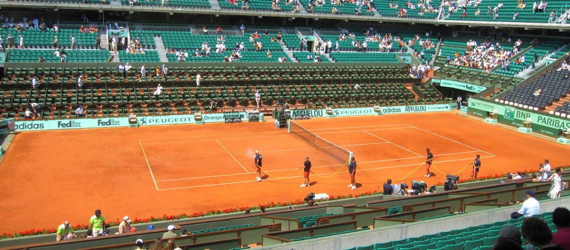 Le court Philippe Chatrier pour les demi-finales de Roland Garros 2011