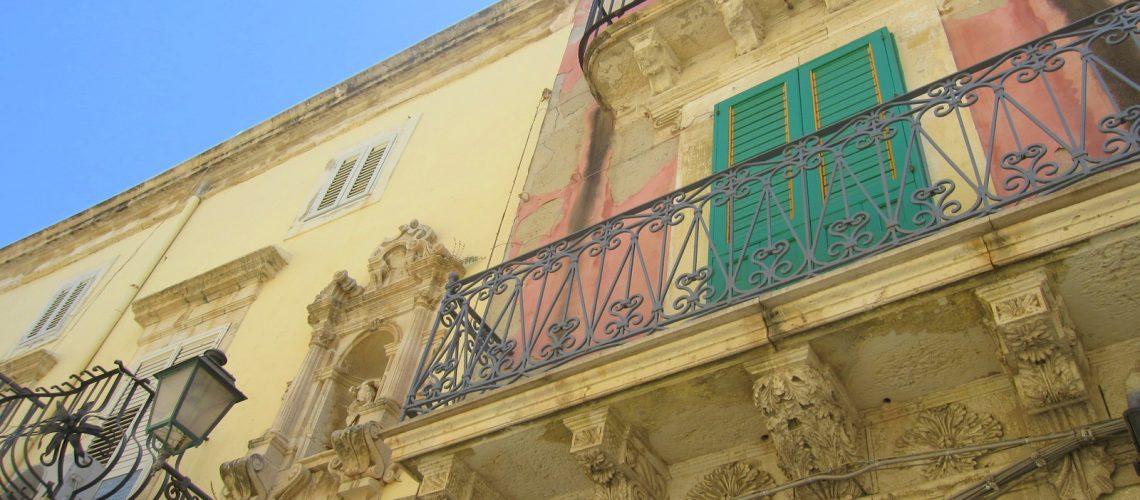 Les jolies façades de Syracuse, en Sicile