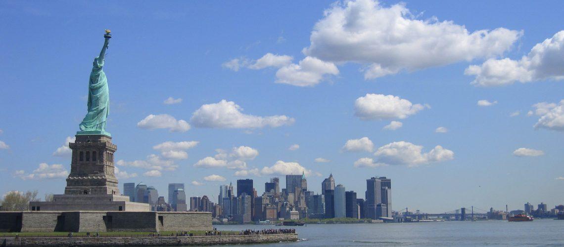 En direction de Liberty Island à New York