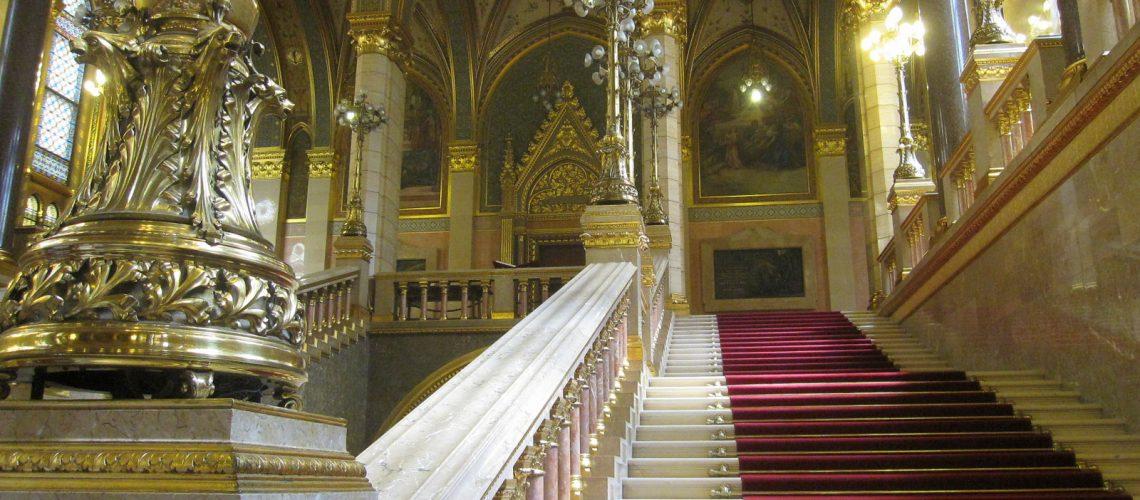 La visite du Parlement de Budapest, en Hongrie