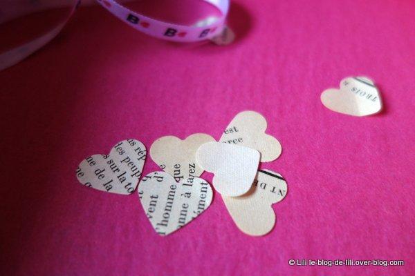 De petits cœurs dans la B Cœur Box de la BlanchePorte