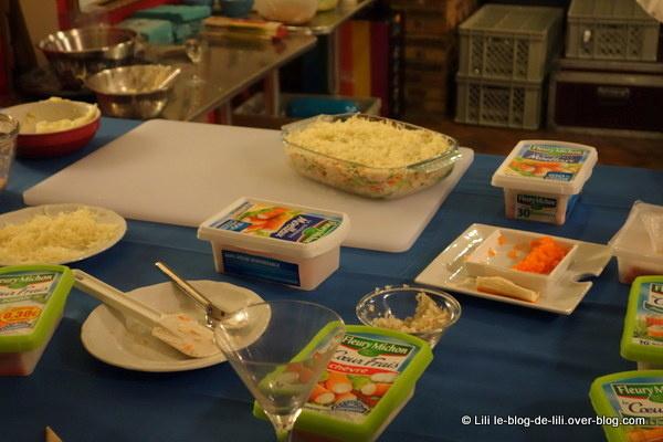 La table, prête pour la recette de lasagnes au surimi