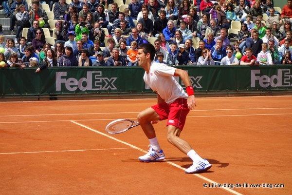 Sur le court 2 pour la journée des enfants de Roland Garros : Novak Djokovic