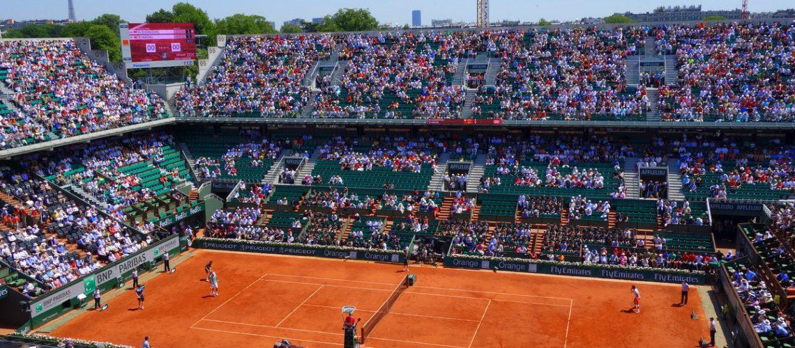 Le court Philippe Chatrier, un jour de demi-finale à Roland Garros