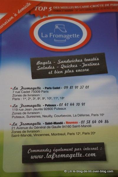 La Fromagette : des bagels et un fromage livrés via Chronoresto