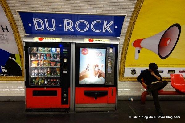 La station de métro Du rock, un soir comme les autres