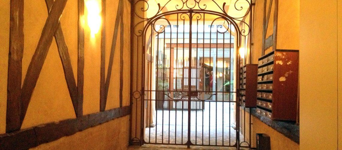L'entrée du spa Nuxe Montorgueil à Paris