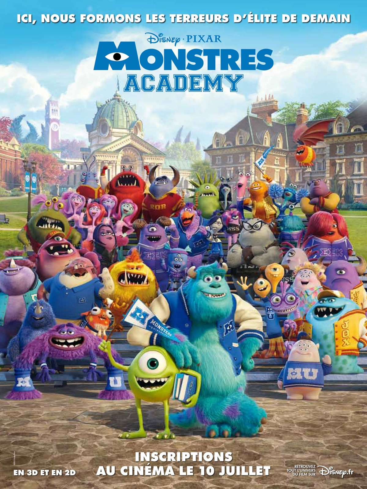 """Monstres Academy"" : Pixar un peu en dessous"
