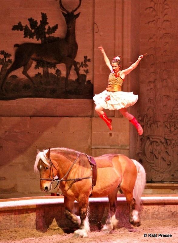 """""""Écuyères"""" : un spectacle équestre présenté à Chantilly"""