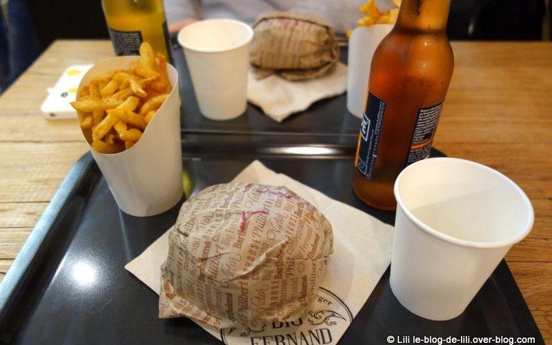 Premier repas chez Big Fernand Montorgueil