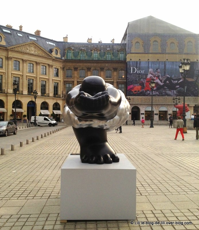 L'expo de Li Chen sur la place Vendôme