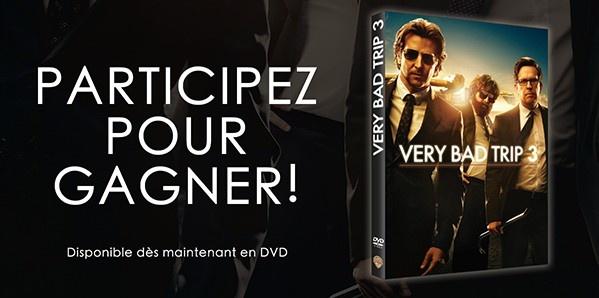 """[Concours] Gagnez un DVD de """"Very bad trip 3"""""""