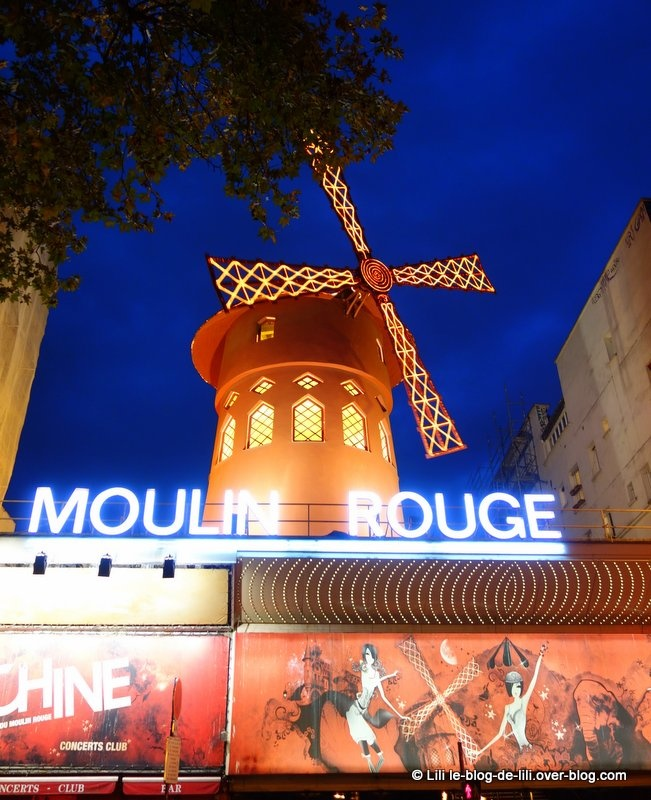 Promenade nocturne à Montmartre, du Moulin rouge au Sacré-Coeur