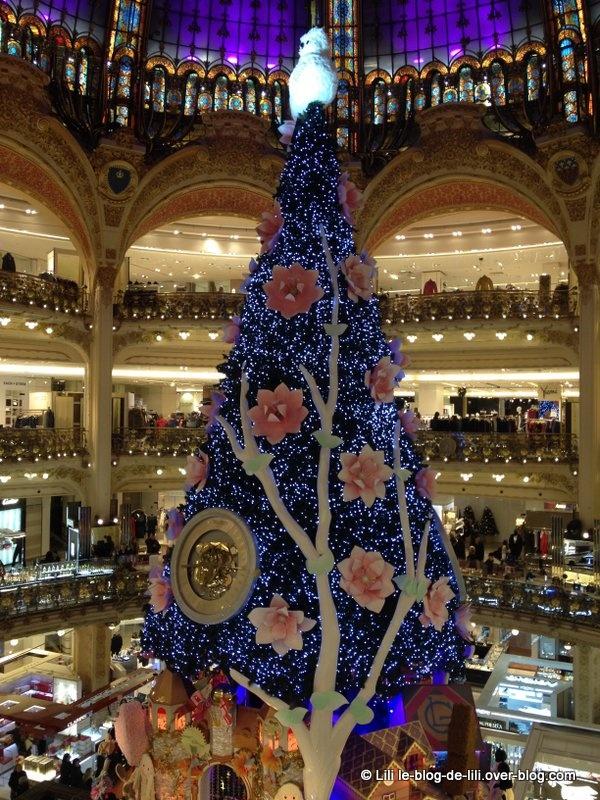 Noël 2013 : le sapin des Galeries Lafayette