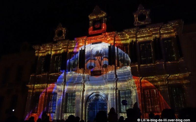 Projections sur l'hôtel de ville de Troyes pour Noël