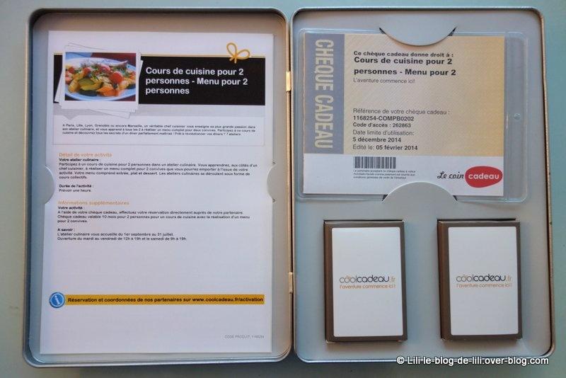 Concours : gagnez un coffret CoolCadeau et participez à 2 à un cours de cuisine