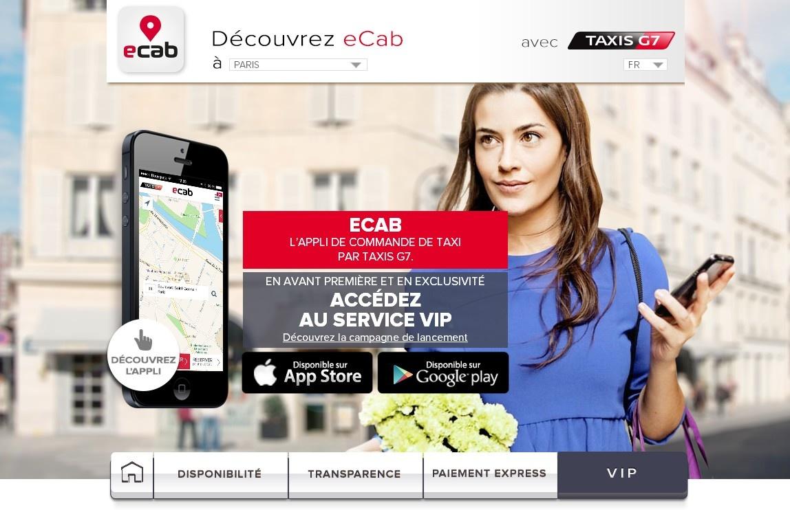 """Concours : gagnez 6x5 courses de taxi """"ecab VIP"""", un service des taxis G7, en Ile-de-France"""