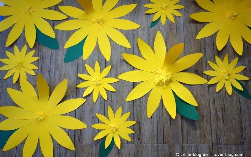 Décorations en fleurs en papier signées Weleda