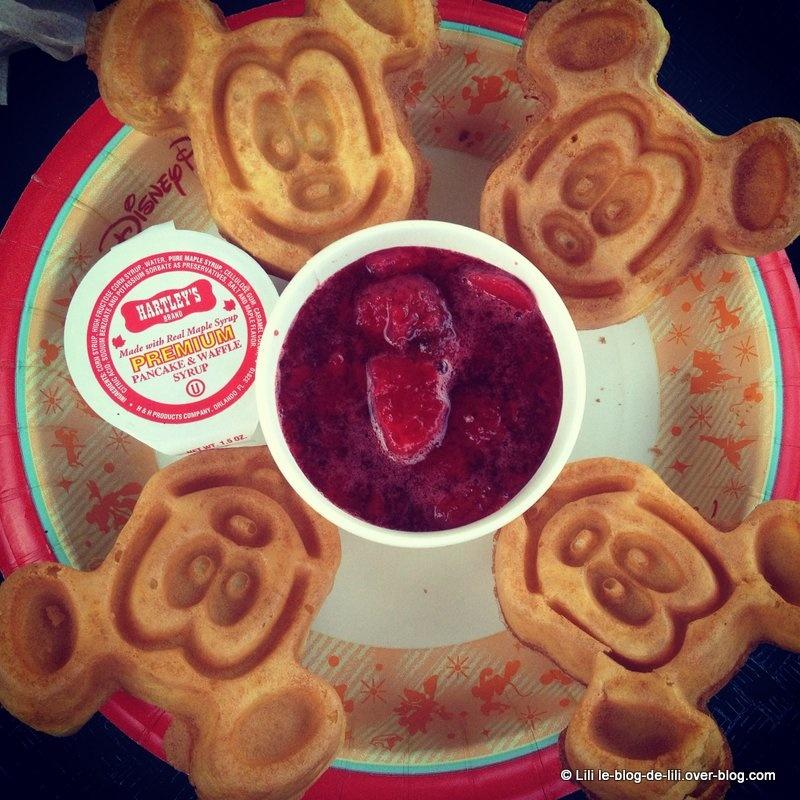 Photos : gaufres Mickey à Walt Disney World et the Simpsons ride à Universal studios