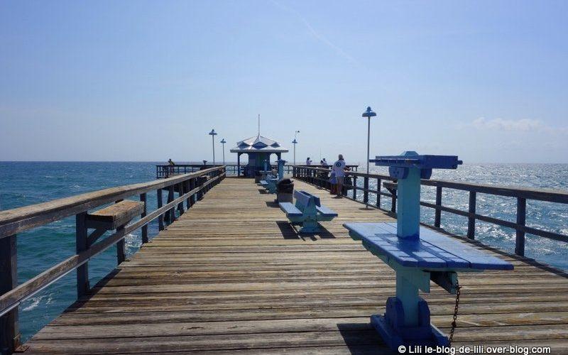 Le ponton à fort Lauderdale