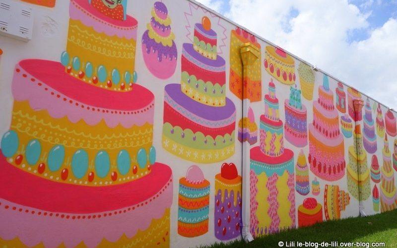 Wynwood : les gâteaux d'anniversaire en street art