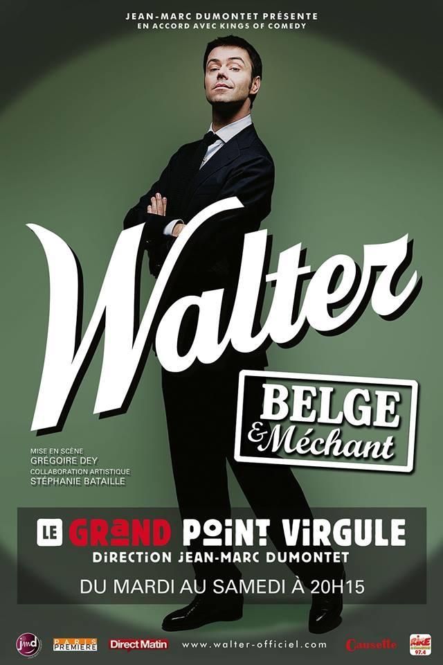"""Une bonne soirée devant """"Walter, belge et méchant"""" au grand point virgule"""