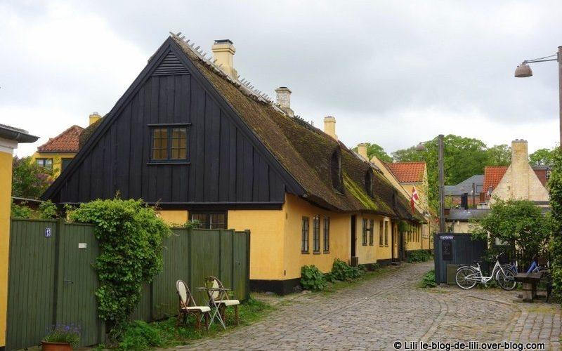 Dragor, une petite ville à proximité de Copenhague, au Danemark