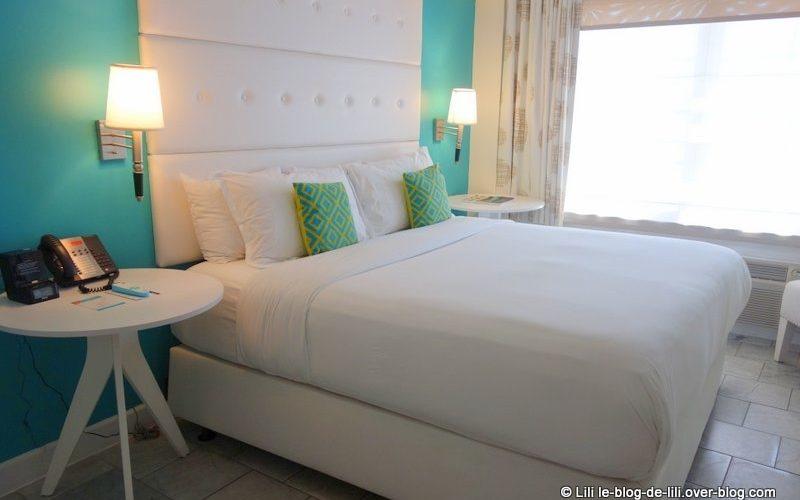 Notre chambre au Beacon hotel à South Beach