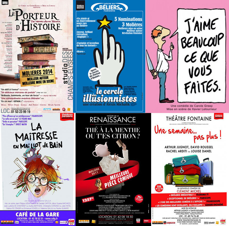 """Mes repérages """"spectacles à Paris"""" pour la saison 2014-2015"""