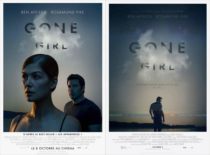 """Gone Girl"" : une fleur bleue devant un thriller"