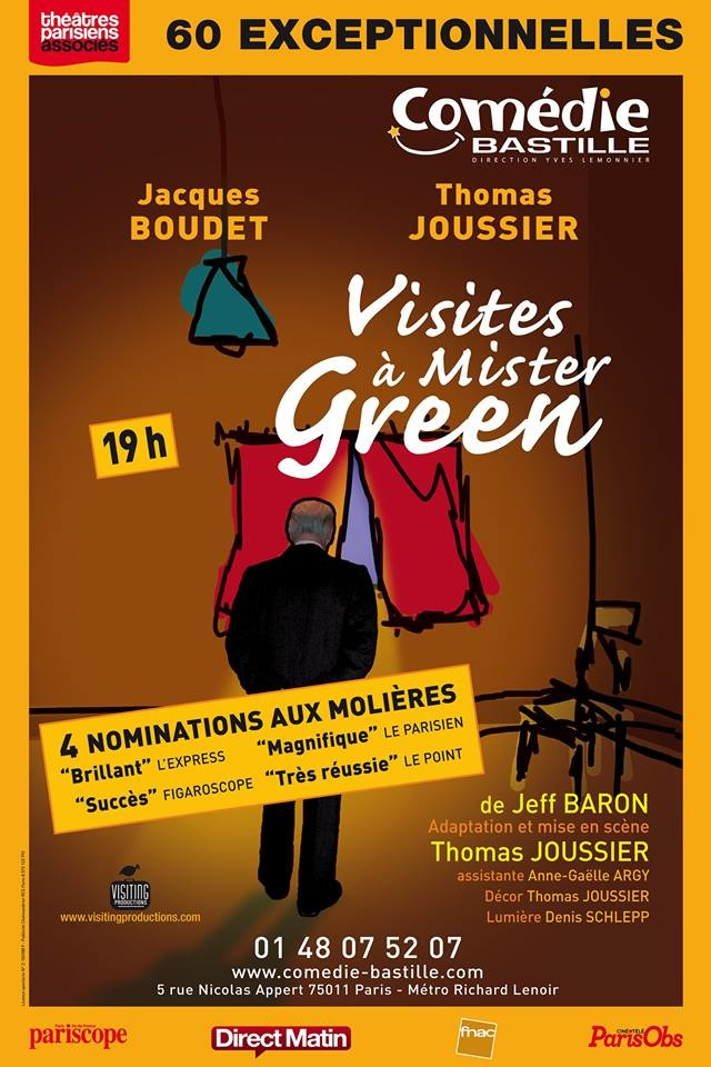 """""""Visites à Mister Green"""", la pièce nommée aux Molières de retour au théâtre"""