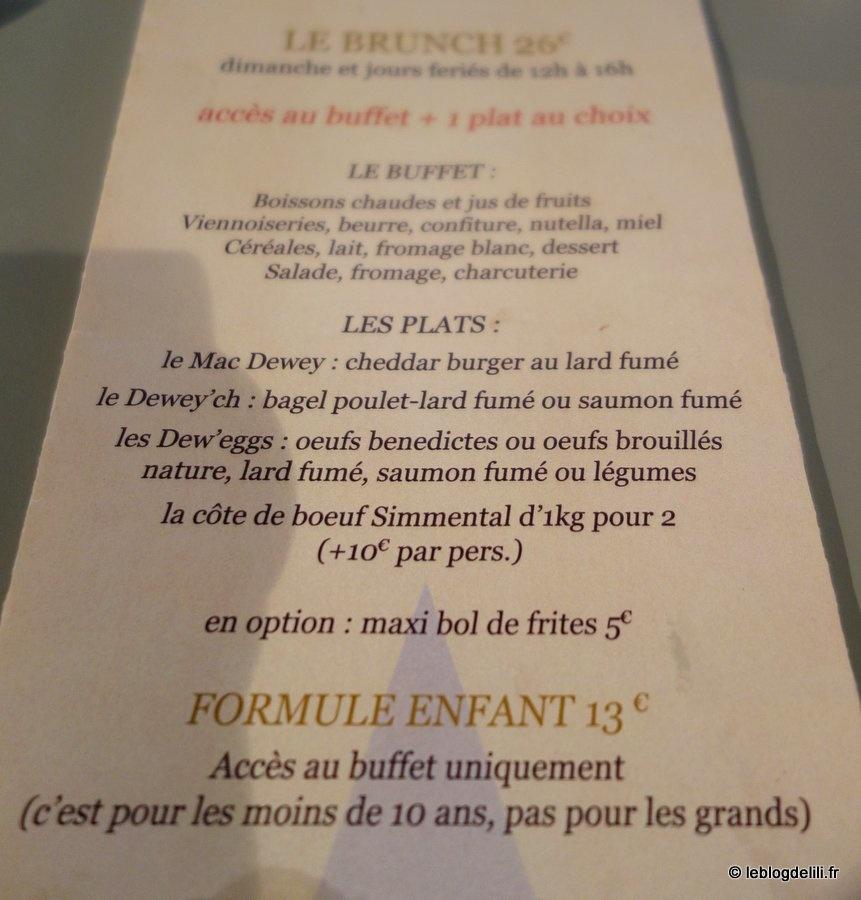 Où bruncher à Paris (49) : chez Dewey