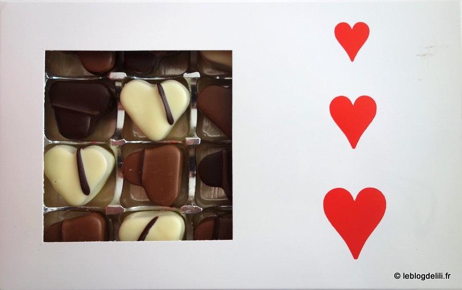 Le délice de la Saint-Valentin de Paris Chocolat