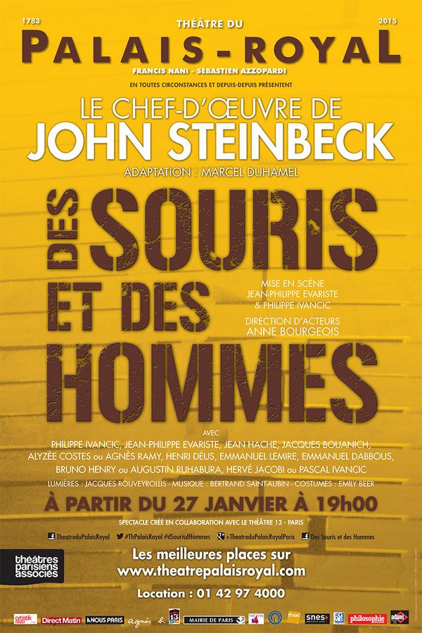"""""""Des souris et des hommes"""", un drame sur les planches du théâtre du Palais Royal"""