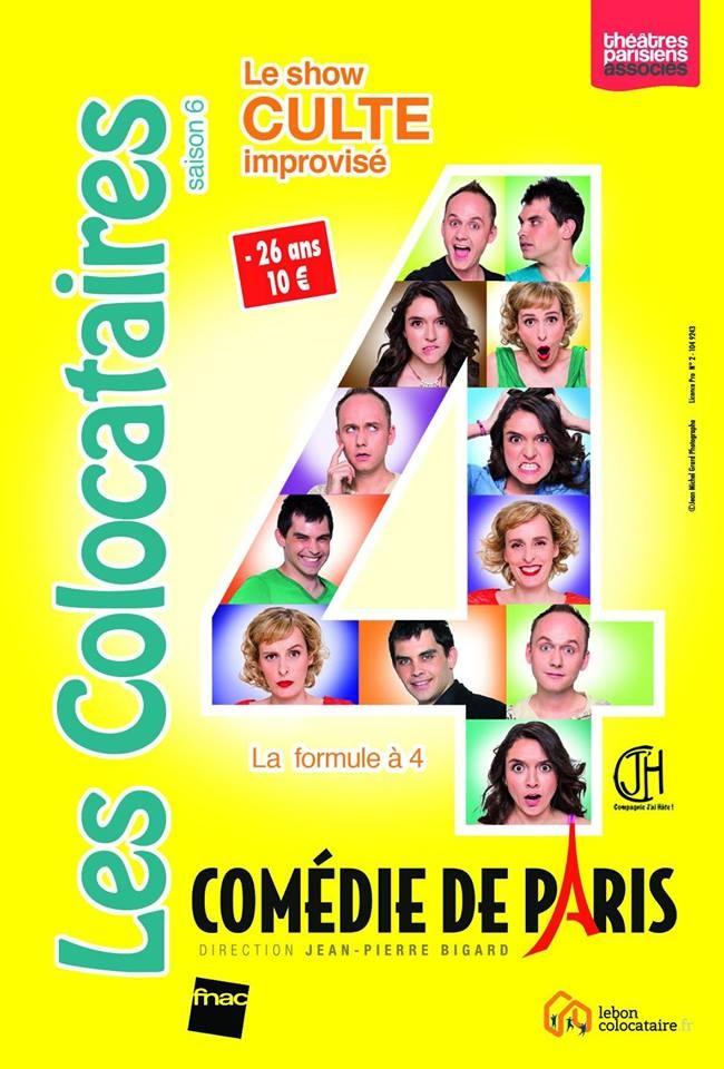 """""""Les colocataires"""" improvisent sur la scène de la Comédie de Paris"""