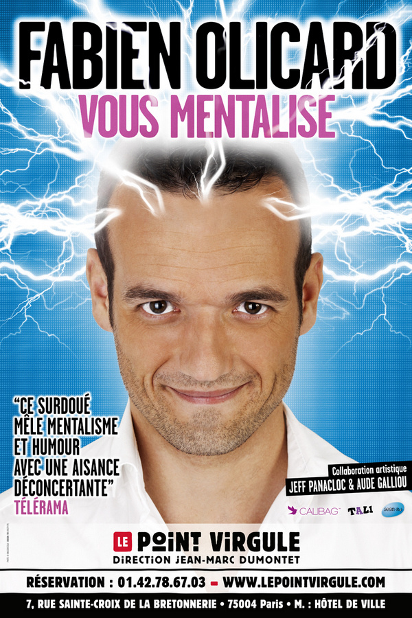 """""""Fabien Olicard vous mentalise"""" au Point Virgule, à Paris"""