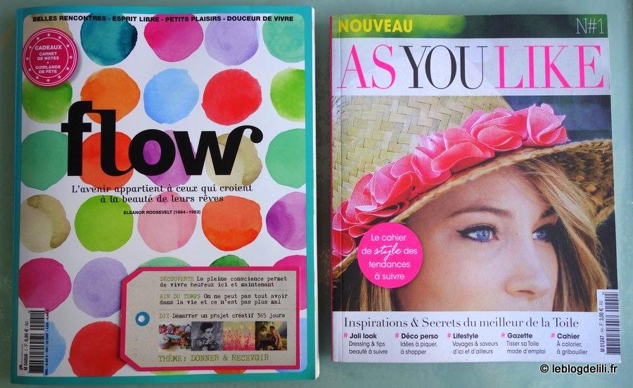 """""""Flow"""" et """"As you like"""" : mon avis sur les nouveaux magazines 2015"""