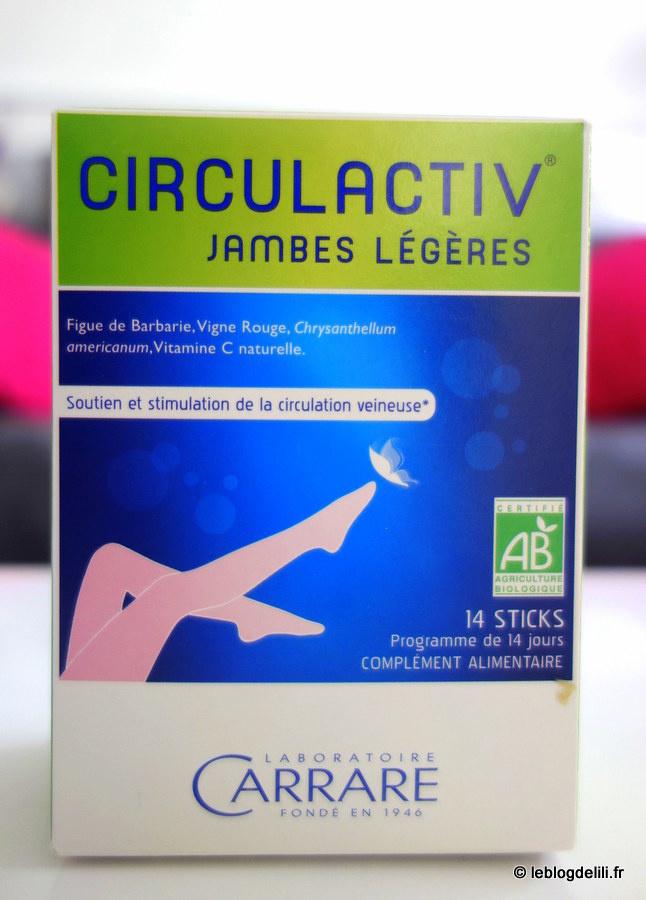 Lutte contre les jambes lourdes : Circulactiv du laboratoire Carrare