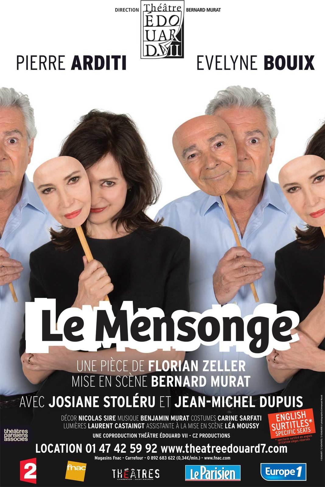 """""""Le mensonge"""" au théâtre Edouard VII"""